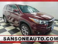 CARFAX One-Owner. Clean CARFAX. Maroon 2015 Toyota
