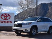 AWD. Clean CARFAX. White 2015 Toyota Highlander LE Plus