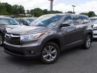 This outstanding example of a 2015 Toyota Highlander LE