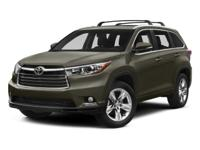 CARFAX One-Owner. Attitude Black 2015 Toyota Highlander