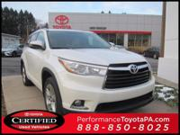 ONE OWNER!! 2015 TOYOTA HIGHLANDER LIMITED!! AWD, 3.5L