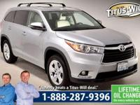Just Reduced! 2015 Toyota Highlander, Silver,