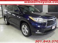 This Toyota Highlander has a strong Regular Unleaded