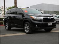 CARFAX One-Owner. Low Miles on This Black 2015 Toyota