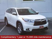 Clean CARFAX. Certified. Blizzard Pearl 2015 Toyota