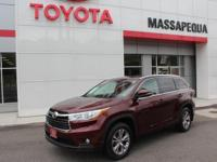 Red 2015 Toyota Highlander XLE V6 AWD 6-Speed Automatic