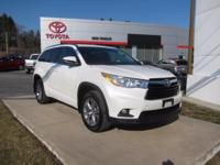 2015 Toyota Highlander Certified. CARFAX One-Owner.