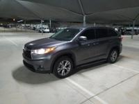 We are excited to offer this 2015 Toyota Highlander.
