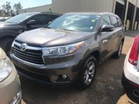 Options:  2015 Toyota Highlander Xle|Gray/|V6 3.5 L