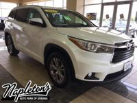 Recent Arrival! 2015 Toyota Highlander in White, AUX