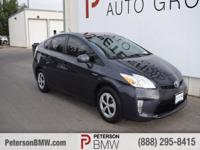 Stunning in Winter Gray Metallic, our 2015 Toyota Prius
