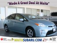 CARFAX One-Owner. Clean CARFAX. Blue 2015 Toyota Prius