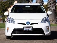 Options:  2015 Toyota Prius Three|White|Clean Carfax.