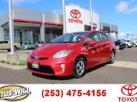 2015 Toyota Prius Three Red CARFAX One-Owner. Recent