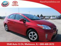 Recent Arrival! 2015 Toyota Prius Two Red 1.8L