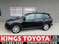 CARFAX One-Owner. Certified. Black 2015 Toyota RAV4