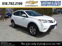 CARFAX One Owner. Our Super White 2015 Toyota RAV4 XLE