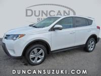 2015 Toyota RAV4 XLE AWD, Super White with Black