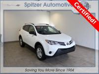 Toyota RAV4 LE CARFAX One-Owner. Certified. Clean