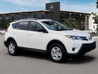 Pre-Owned 2015 Toyota RAV4 LE. Super White over Black