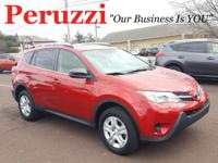 CARFAX One-Owner. Clean CARFAX. Red 2015 Toyota RAV4 LE