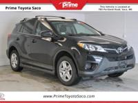 CARFAX One-Owner. 2015 Toyota RAV4 LE in Black, With