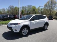 Super White 2015 Toyota RAV4 LE AWD 6-Speed Automatic