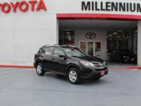 Certified. Black 2015 Toyota RAV4 LE AWD 6-Speed