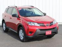 Options:  2015 Toyota Rav4 Le|Red|Full Exterior &
