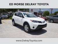 This outstanding example of a 2015 Toyota RAV4 LE is