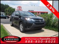 2015 Toyota RAV4 Certified. CARFAX One-Owner. 29/22