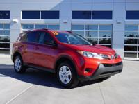 LE Clean CARFAX. Barcelona Red Metallic FWD RAV4 LE, 4D