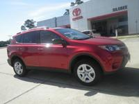 Red 2015 Toyota RAV4 LE FWD 6-Speed Automatic 2.5L