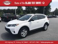 Super White 2015 Toyota RAV4 LE FWD 6-Speed Automatic