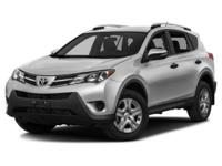 CARFAX One-Owner. Silver 2015 Toyota RAV4 LE FWD