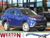 CARFAX One-Owner. 2015 Toyota RAV4 Limited Blue Crush