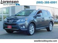 Limited trim. Toyota Certified, GREAT MILES 42,441! EPA