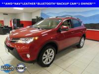 ONE OWNER, LEATHER, NAVIGATION, and SUNROOF. RAV4