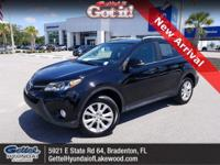 This 2015 Toyota RAV4 Limited in Black features: **Low