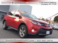 Red 4D Sport Utility 2015 Toyota RAV4 XLE AWD 6-Speed