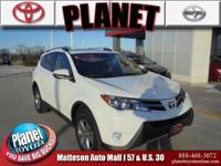 2015 Toyota RAV4 XLE White Toyota Certified Used
