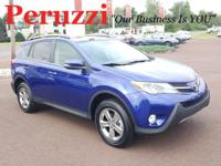 CARFAX One-Owner. Clean CARFAX. Blue 2015 Toyota RAV4