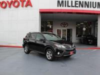 Certified. Black 2015 Toyota RAV4 XLE AWD 6-Speed