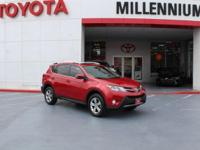 Certified. Barcelona Red Metallic 2015 Toyota RAV4 XLE