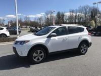 New Price! Super White 2015 Toyota RAV4 XLE FWD 6-Speed