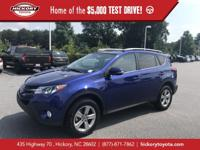 Blue Crush Metallic 2015 Toyota RAV4 XLE FWD 6-Speed