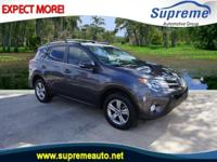 CARFAX One-Owner. Certified. Gray 2015 Toyota RAV4 XLE