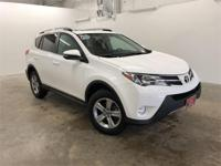 Certified. Super White 2015 Toyota RAV4 XLE FWD 6-Speed