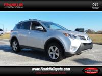 RAV4 XLE. You'll NEVER pay too much at Franklin Toyota!
