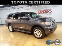 Toyota Certified, 4WD, Limited, 2nd Row Captains Seats,
